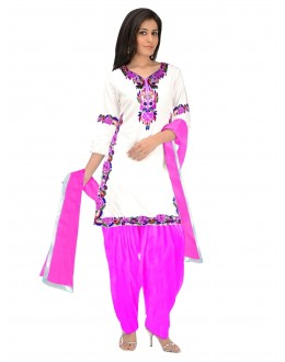Cotton White Salwar Suit - EBSFSKRB334080