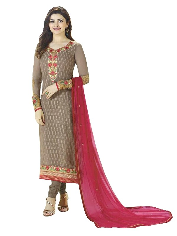 Faux Georgette Grey Salwar Suit - EBSFSKRB334056