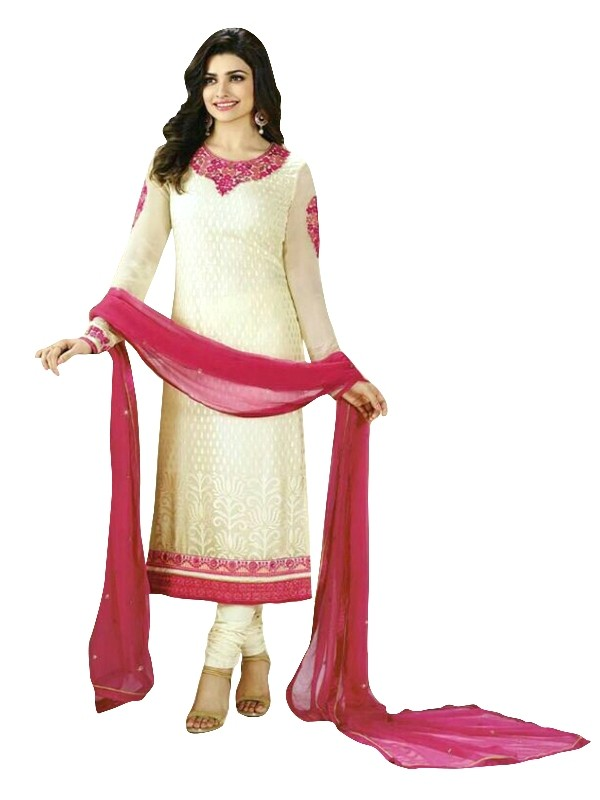 Faux Georgette Off White Salwar Suit - EBSFSKRB334055