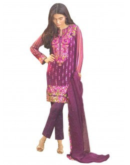 Faux Georgette Purple Salwar Suit - EBSFSKRB334053