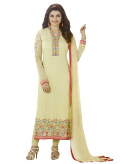 Faux Georgette Yellow Salwar Suit - EBSFSKRB334045