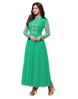 Party Wear Georgette Green Anarkali Suit  - EBSFSKRB334005C
