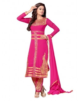 Party Wear Georgette Pink Churidar Suit - EBSFSKRB334022