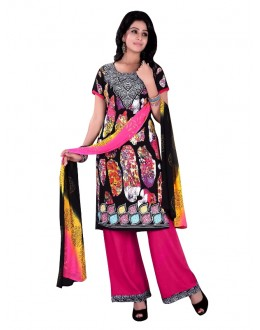 Rayon Cotton Multicolor Salwar Suit - EBSFSKRB334029