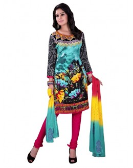 Rayon Cotton Multicolor Salwar Suit - EBSFSKRB334031
