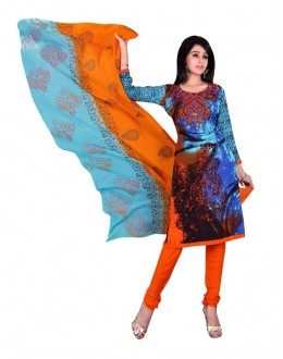 Rayon Cotton Multicolor Salwar Suit - EBSFSKRB334034