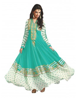 Party  Wear Embroidered Georgette Sky Blue Anarkali Salwar Suit - EBSFSKAH376002A ( EBSFSK37 )