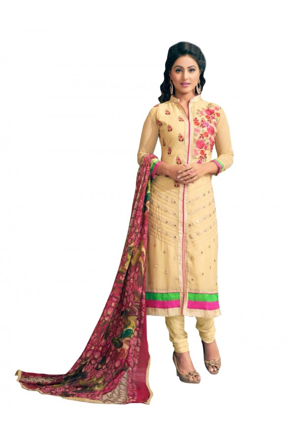 Party Wear Embroidered Georgette Straight Cut Yellow Salwar Suit - EBSFSKRB376016 ( EBSFSK37 )