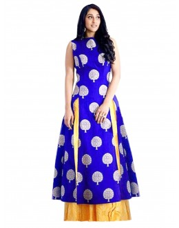 Party Wear Banglori Silk Blue Lehenga Suit - EBSFSKJB429010