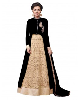 Party Wear Georgette Black Lehenga Suit - EBSFSK429000A