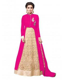 Party Wear Georgette Pink Lehenga Suit - EBSFSK429000D
