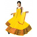 Party Wear Georgette Yellow Anarkali Suit - EBSFSK223045B