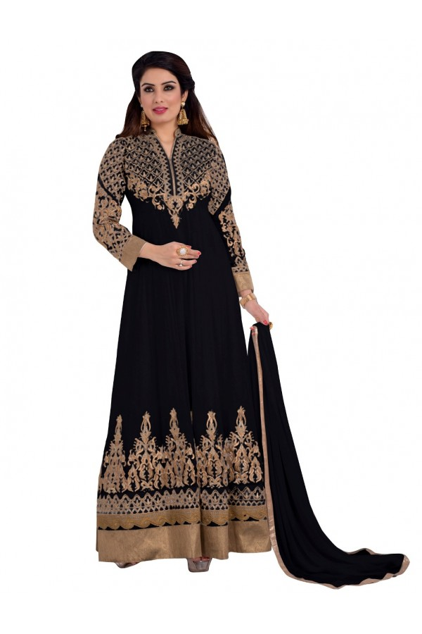 Party Wear Georgette Black Anarkali Suit - EBSFSKDF431005D