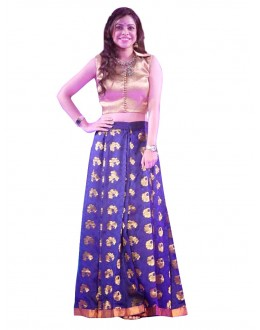 Bollywood Replica - Ethnic Wear Bhagalpuri Blue Lehenga Choli - 60007