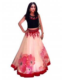 Bollywood Replica - Ethnic Wear Net White Lehenga Choli - 60009