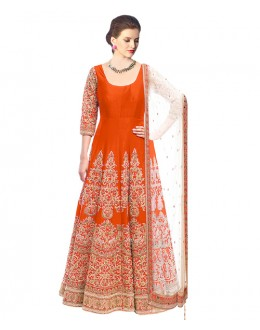 Eid Special  Orange Bhagalpuri Salwar suit  - 70503