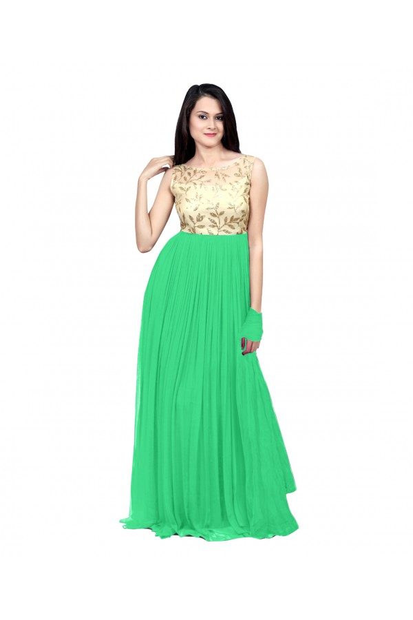 6171a3e812 Eid Special Party Wear Light Green Gown - 70508