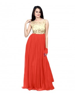 Eid Special Party Wear peach Gown - 70509