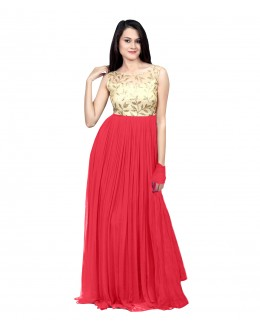 Eid Special Party Wear Pink Gown - 70510