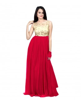 Eid Special Party Wear Pink Gown - 70512