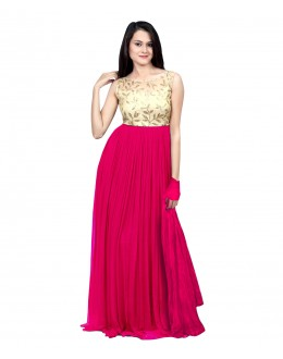 Eid Special Party Wear Pink Gown - 70515