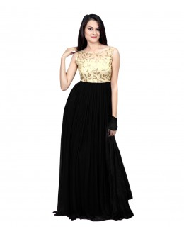 Eid Special Party Wear Black Gown - 70523