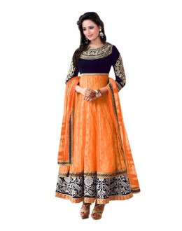 Eid Special Orange Santoon Salwar suit  - EBSFSK223061E