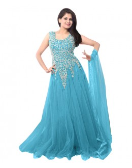 Eid Special Party Wear Sky Blue Gown - EBSFSK234014J