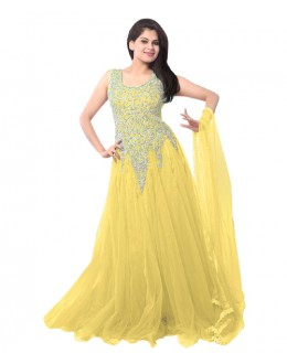 Eid Special Party Wear Yellow  Gown - EBSFSK234014K