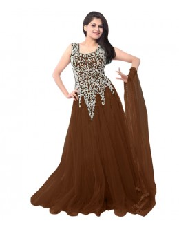 Eid Special Party Wear Brown Gown - EBSFSK234014M