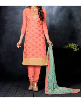 Party Wear Pink  Designer Salwar Suit  - Diya Orange