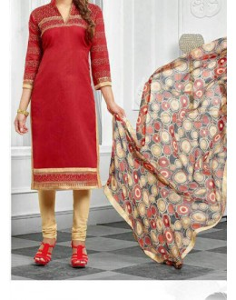 Party Wear Red  Designer Salwar Suit  - Diya Red