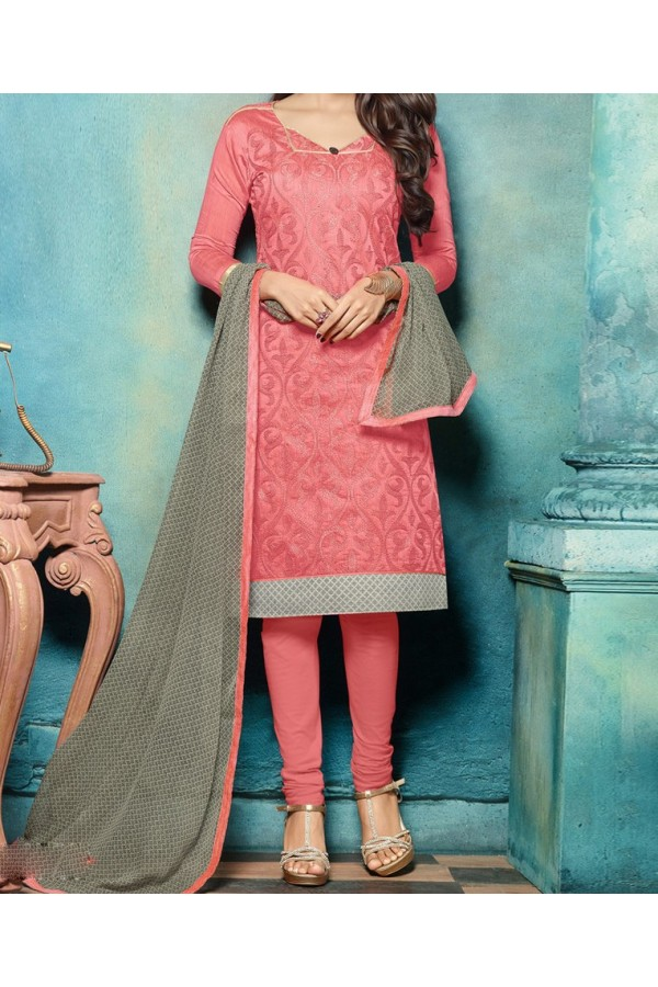 Party Wear Pink  Designer  Salwar  Suit  -  Zaal Pink