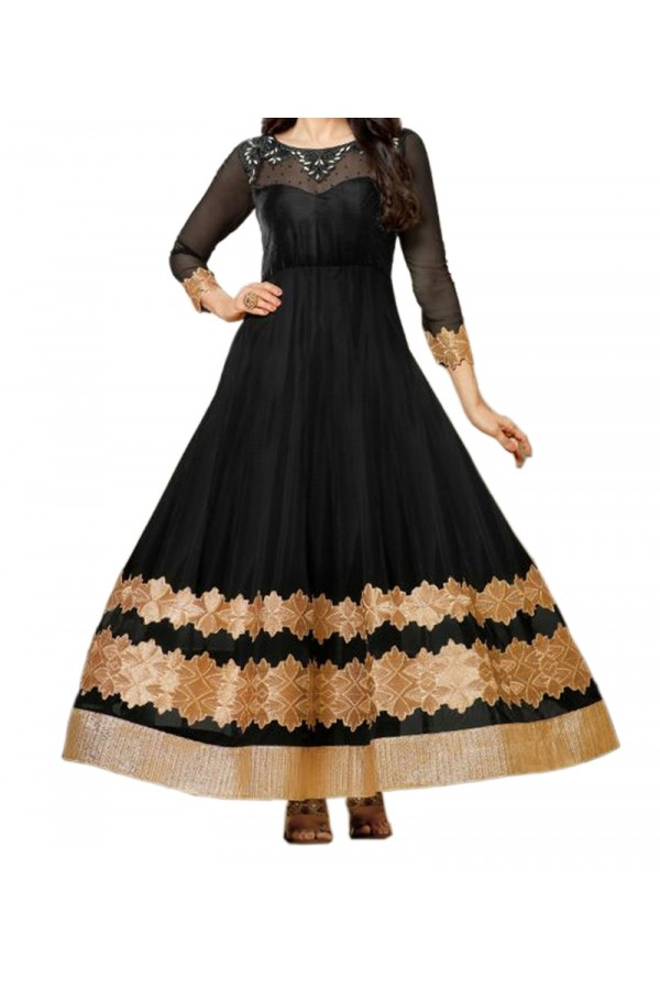 Party Wear Black Georgette  Salwar Suit - EF057