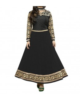 Party Wear Black Georgette Salwar Suit - EF069
