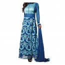 Party Wear Blue Georgette Salwar Suit - EF022