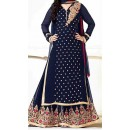 Party Wear Blue Georgette Salwar Suit - EF066