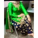 Party Wear Green American Crape Salwar Suit - EF068