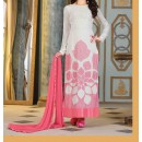 Party Wear White Georgette Salwar Suit - EF063