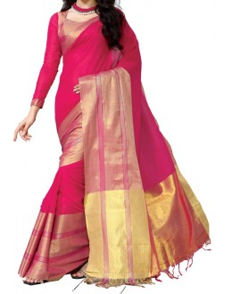 Party Wear Pink Georgette  Saree - AK_Rani