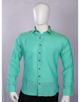 Officer Fit Linen Sea Green Casual Shirt - EC1032 - EC01