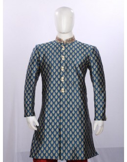 Ethnic Wear Embroidered Dark Pista Angarakha - AA8972 - ECAS05