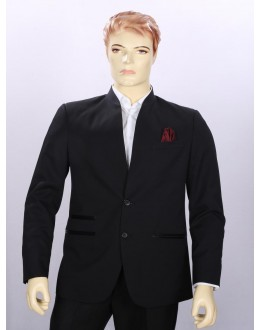 Party Wear Black Blazer For Men - ECC07