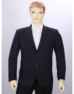 Party Wear Navy Blue Coat For Men - ECC07