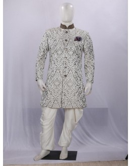 Lemon Heavy Embroidered Indowestern - II6101 - ECIW3