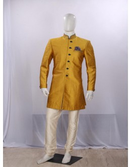 Yellow Heavy Embroidered Indowestern - IA6819 - ECIW04
