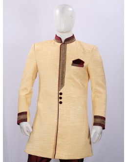 Wedding Wear Lemon Indowestern For Men - ECIW09
