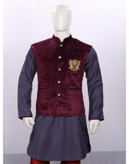 Ethnic Wear Orchid Jacket Kurta Set - ECJKS08