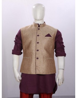 Ethnic Wear Purple Jacket Kurta Set - ECJKS08
