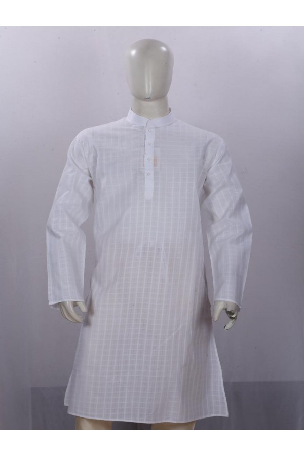 Regular Fit Birla Century Mix Lot Dobby White Kurta Pyjama - KM9870 - ECK02